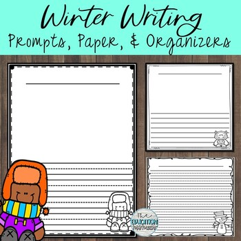 Winter Journal Prompts and Writing Paper