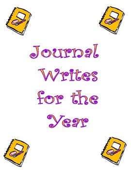 Journal Writes for a Year