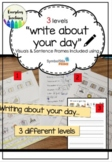 Writing a journal: Daily activity in Special Education Cla