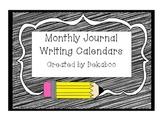 Journal Writing Calendars for 1st-3rd Grade