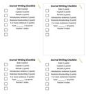 Journal Writing Checklist
