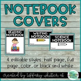 Journal Notebook Covers- Editable