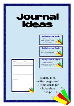 Journal Writing - Ideas and Pages