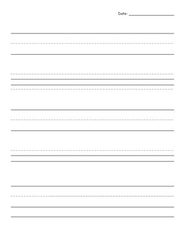 Journal Writing Page Blank