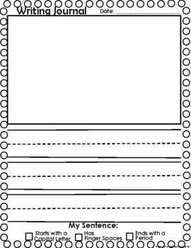 Journal Writing Pages by Diary Of A Kindergarten Teacher TpT