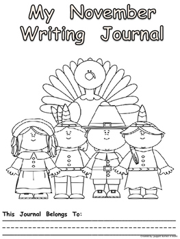 Journal Writing Pages/Booklet for the Month of November