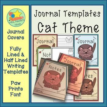 Journal Writing Paper - Cat Theme