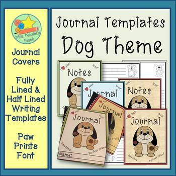 Journal Writing Paper - Dog Theme