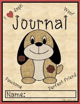 Journal Writing Paper - Dog Theme