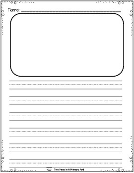 Journal Writing Paper - Plain and Dashed for Primary