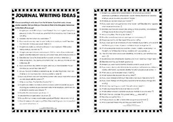 Editable Journal Writing Prompts