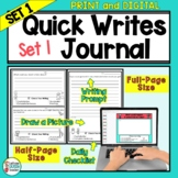 Writing Prompts Journal For Daily Writing - Pack 1