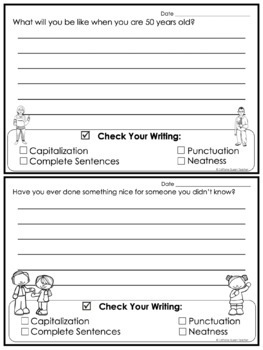 Writing Prompts Journal For Daily Writing Pack 1