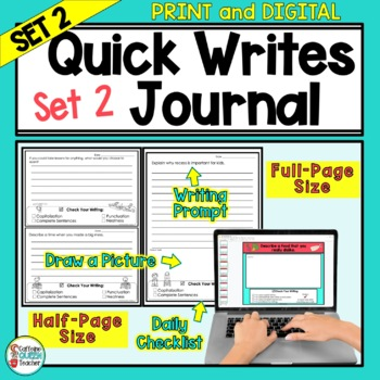 Writing Prompts Journal For Daily Writing Pack 2