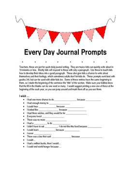 Journal Writing Prompts