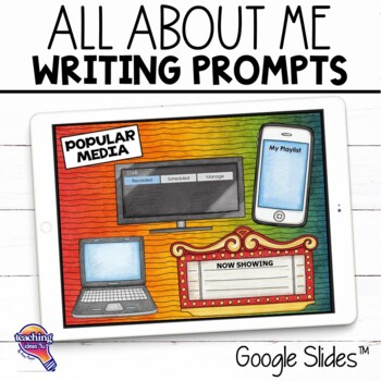 """Journal Writing Prompts """"All About Me"""" GOOGLE Drive Version"""