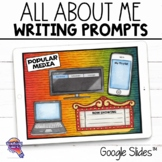 "Journal Writing Prompts ""All About Me"" GOOGLE Drive Version"