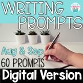 Journal Writing Prompts August & September Digital Distanc