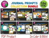 Journal Writing Prompts Bundle PDF Version Color & Ink Saver Included