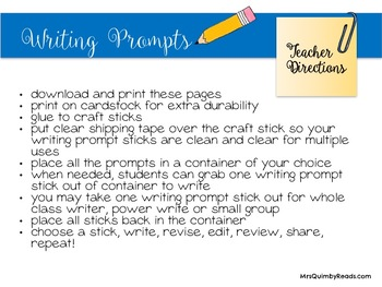Journal Writing Prompts - Writing Resources - Independent Writing