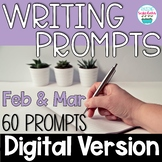 Journal Writing Prompts February & March Digital Distance