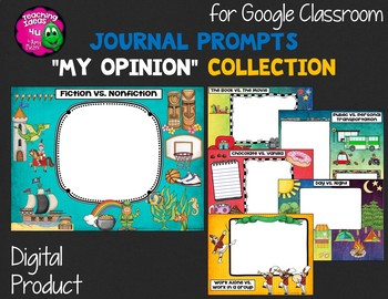"Journal Writing Prompts ""My Opinions"" GOOGLE Drive Version"