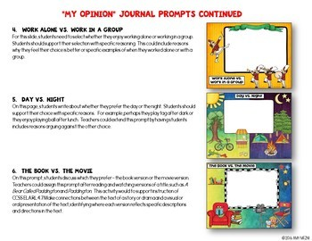 """Journal Writing Prompts """"My Opinions"""" GOOGLE Drive Version"""