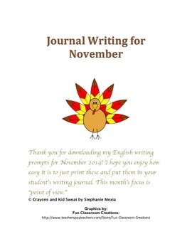 Journal Writing Prompts - November 2014