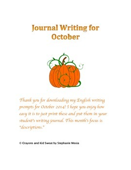Journal Writing Prompts - October 2014