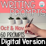 Journal Writing Prompts October & November Digital Distanc