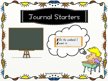 Journal Sentence Starters- Prep to Year 1 (QLD Font/ Lines)