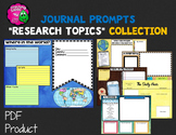 """Journal Writing Prompts """"Research Topics"""" Color & Ink Saver Versions"""