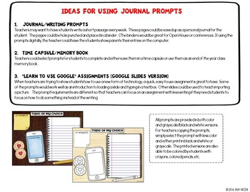 "Journal Writing Prompts ""Research Topics"" GOOGLE Drive Version"