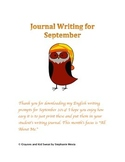 Journal Writing Prompts - September 2014