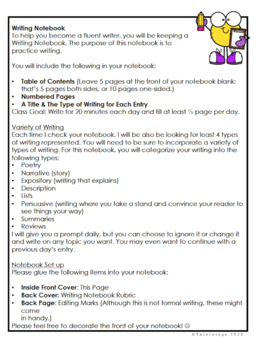 Journal Writing Prompts for 4th-6th Grade - Editable Yearlong Plan