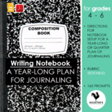 Journal Writing Prompts for 4th-6th Grade - Editable Yearl