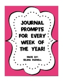 Journal Writing Prompts for Every Week of the Year
