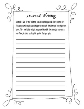Journal Writing Prompts for Intermediate Grades