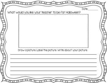 Journal Writing Prompts for the Month of October PreK-2nd
