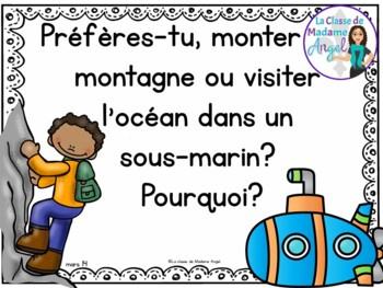 Écriture:  French Journal Writing Prompts - March
