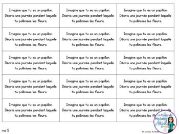 Journal Writing Prompts in French - May