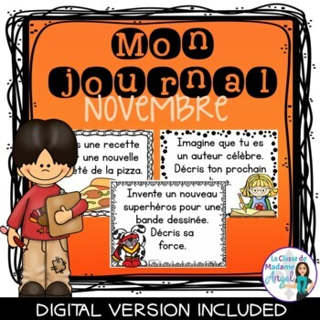Journal Writing Prompts in French - November