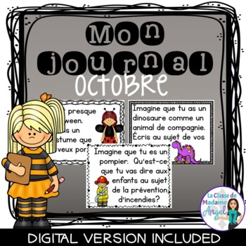 Journal Writing Prompts in French - October