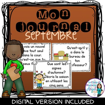 Journal Writing Prompts in French - September