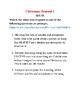 Journal Writing - Seventh Grade Christmas Theme