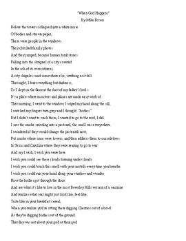 Journal Writing - Sixth Grade Set 2 Poem Printable