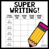 Super Writing! A Writing Fluency Activity
