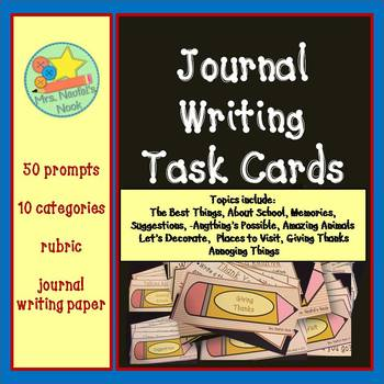 Journal Prompts, Rubric and Writing Templates