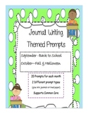 Journal Writing Themed Prompts ~ September & October