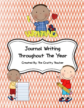 Journal Writing Throughout The Year- Journal prompts, papers & covers!